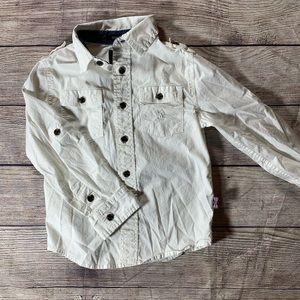 English laundry white Button Down Shirt Size 4